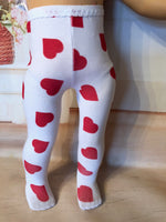 "Valentine Tights for 18"" American Girl Doll"