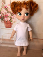 "16"" Disney Animator Solid Color Short Sleeve T-shirt Dress"