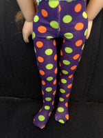 "18"" Kidz n Cats Halloween Tights"