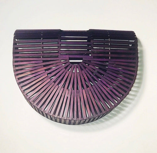 Purple Bamboo Clutch