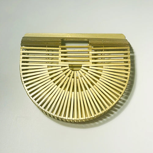 Gold Bamboo Clutch