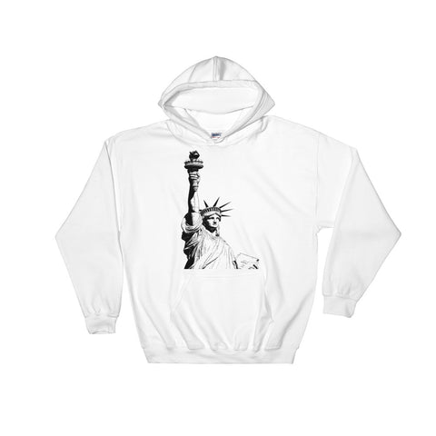 Antique Statue of Liberty Hooded Sweatshirt With Front Pocket