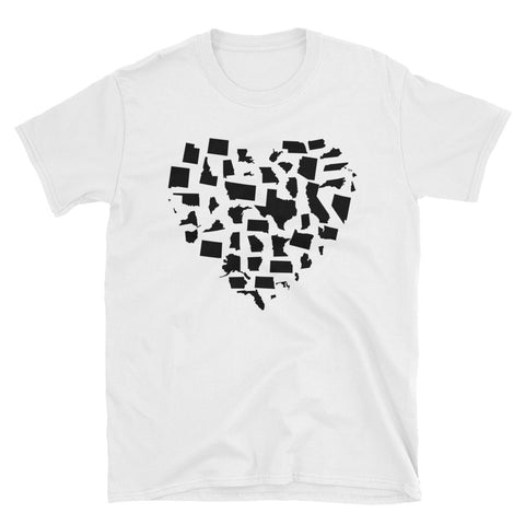Heavier United States Love Short-Sleeve Unisex T-Shirt