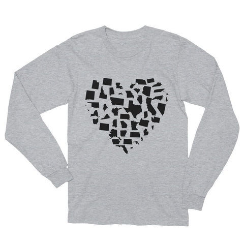 United States Love Unisex Long Sleeve T-Shirt