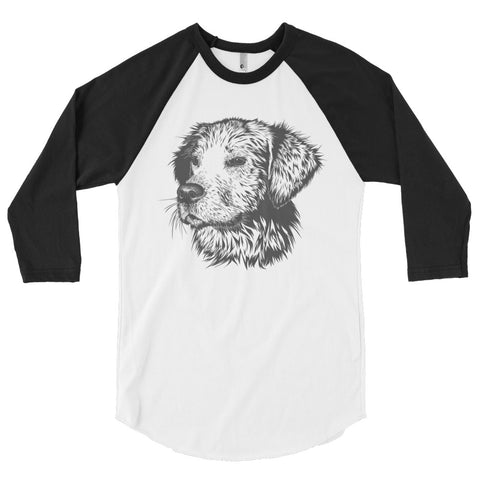 Amazing Dog 3/4 sleeve raglan shirt