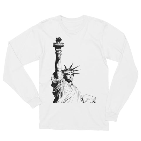 Antique Statue of Liberty Unisex Long Sleeve T-Shirt