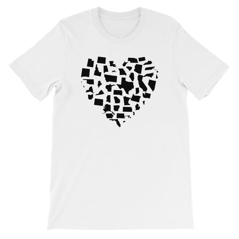 United States Love Short-Sleeve Unisex T-Shirt