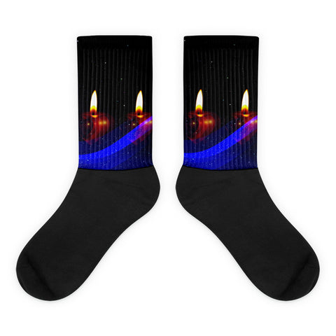 Christmas Candle Socks