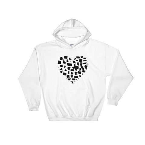 United States Love Hooded Sweatshirt With Front Pocket
