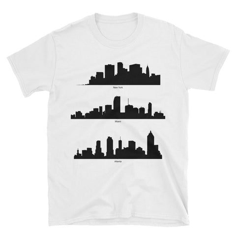 City Skylines Short-Sleeve Unisex T-Shirt