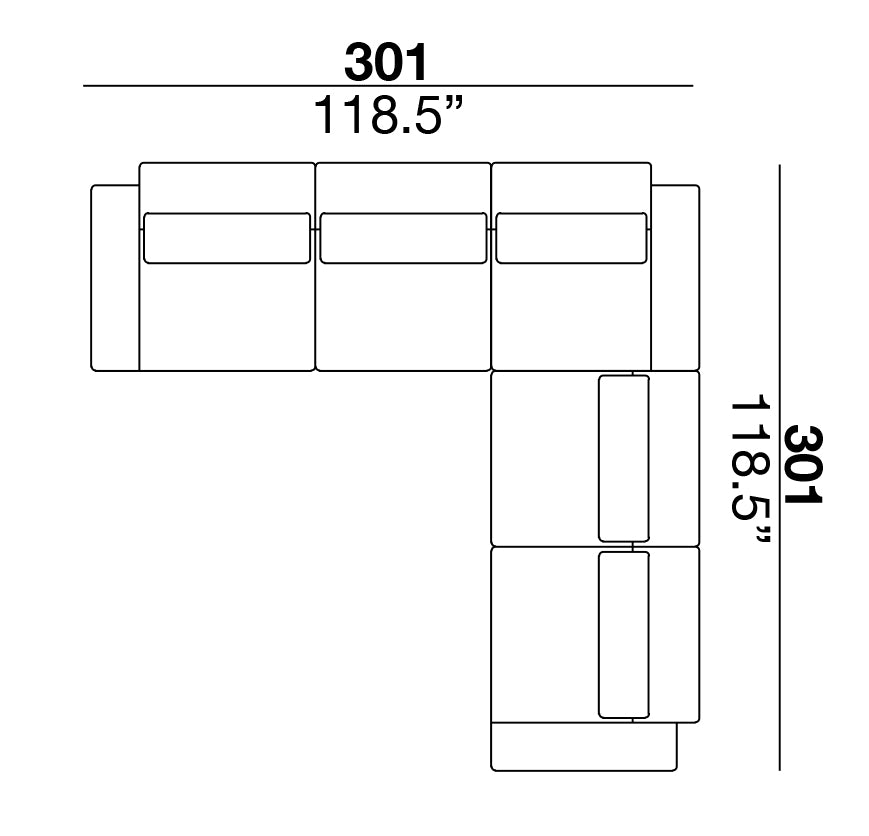 Clift Sectional 301 Square