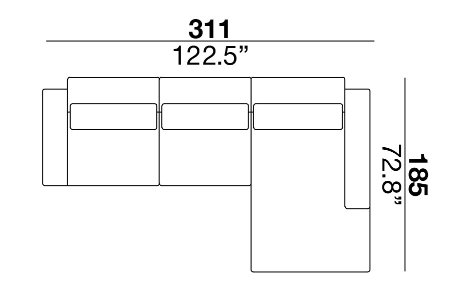 Clift Sectional 311
