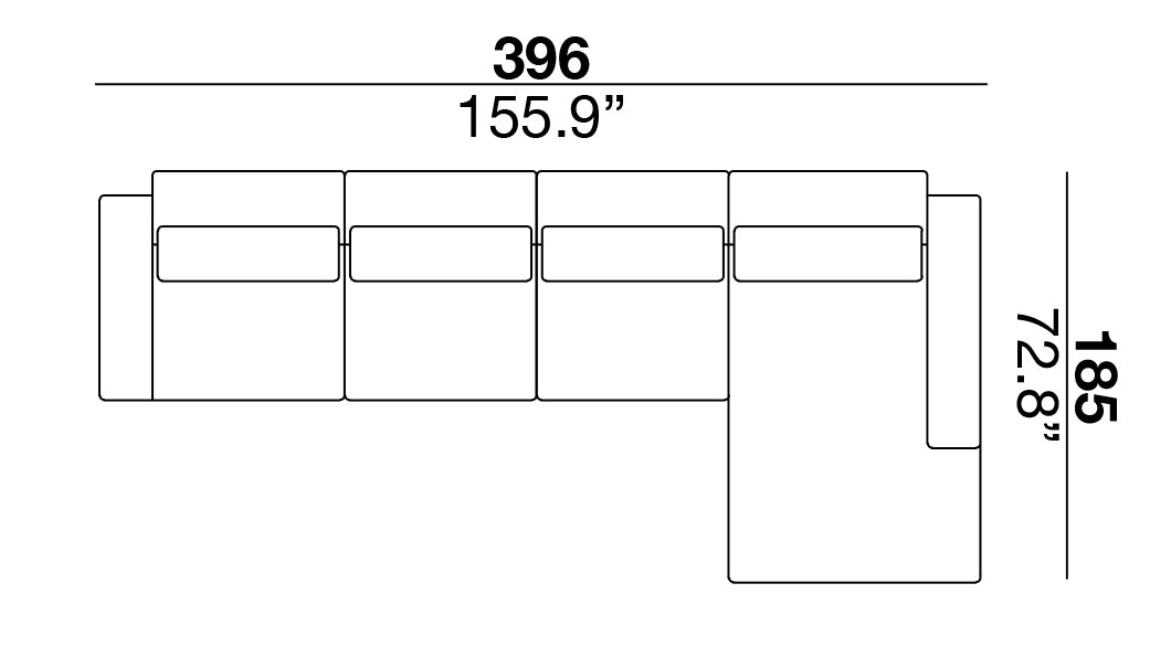 Clift Sectional 396