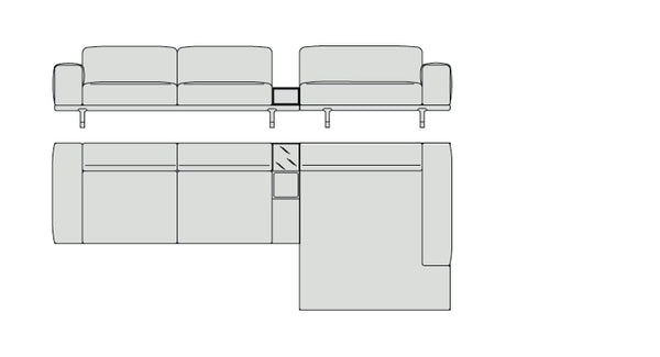 Porada Argo Sectional 355 cm with container
