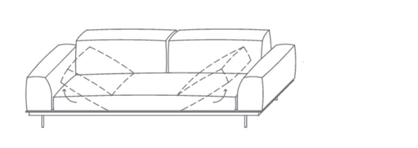 VIBIEFFE Sit Up Sofa 242