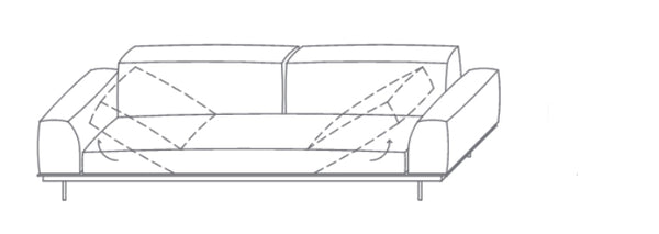 VIBIEFFE Sit Up Sofa 270