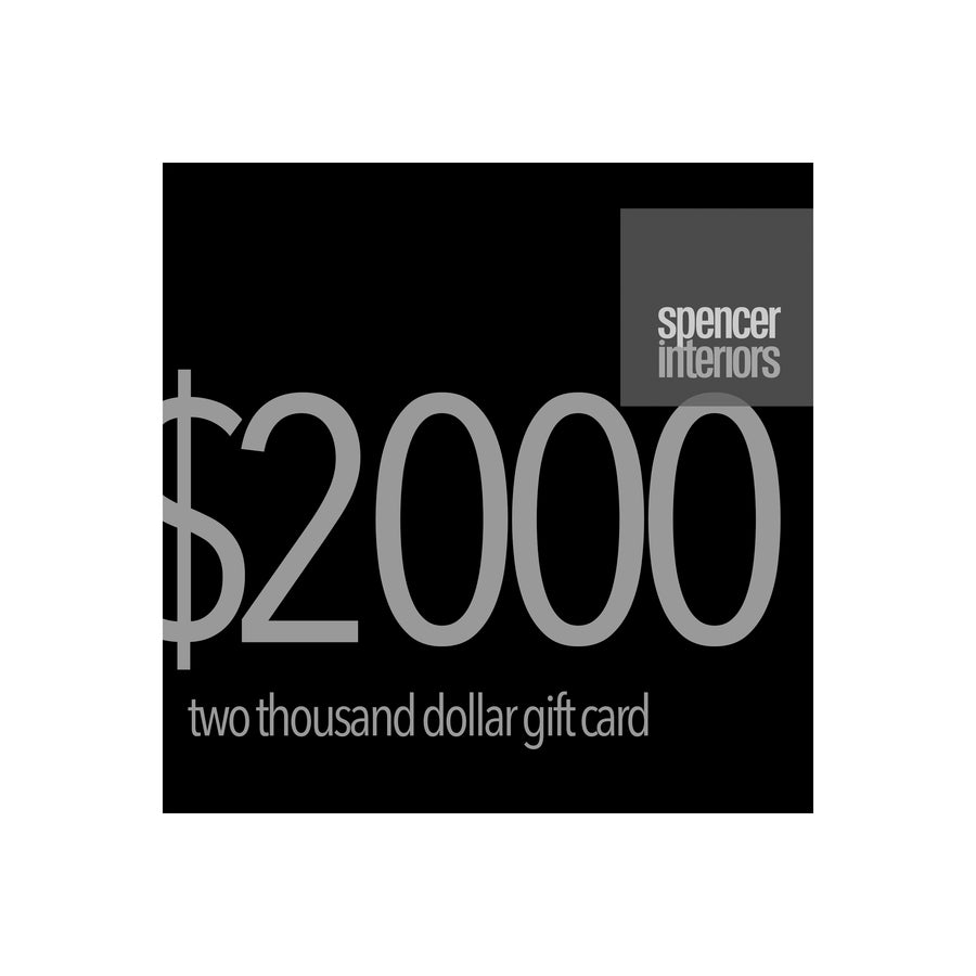 Spencer Interiors Digital Gift Cards