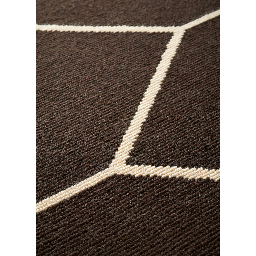 Amini Carpets, Arena Rug, Chocolate Black, detail