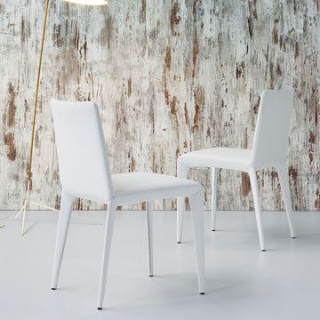 Bonaldo Filly Chair, Capri leather, made in Italy