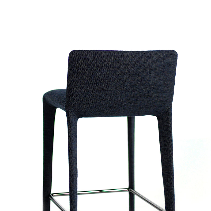 Bonaldo Filly Too Counter Stool covered in Crevin Efficiency fabric, back, made in Italy, © Spencer Interiors Inc.