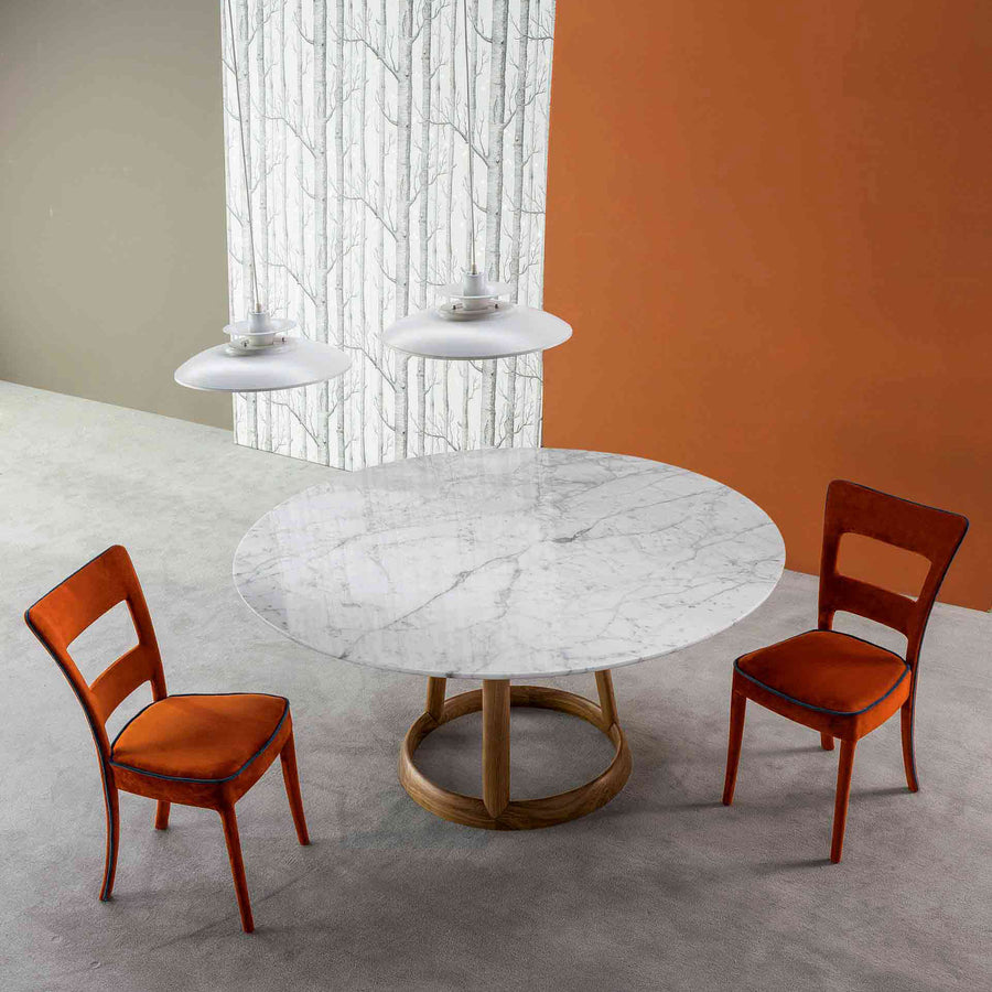 Bonaldo Greeny Round Table with marble Top, ambient - made in Italy