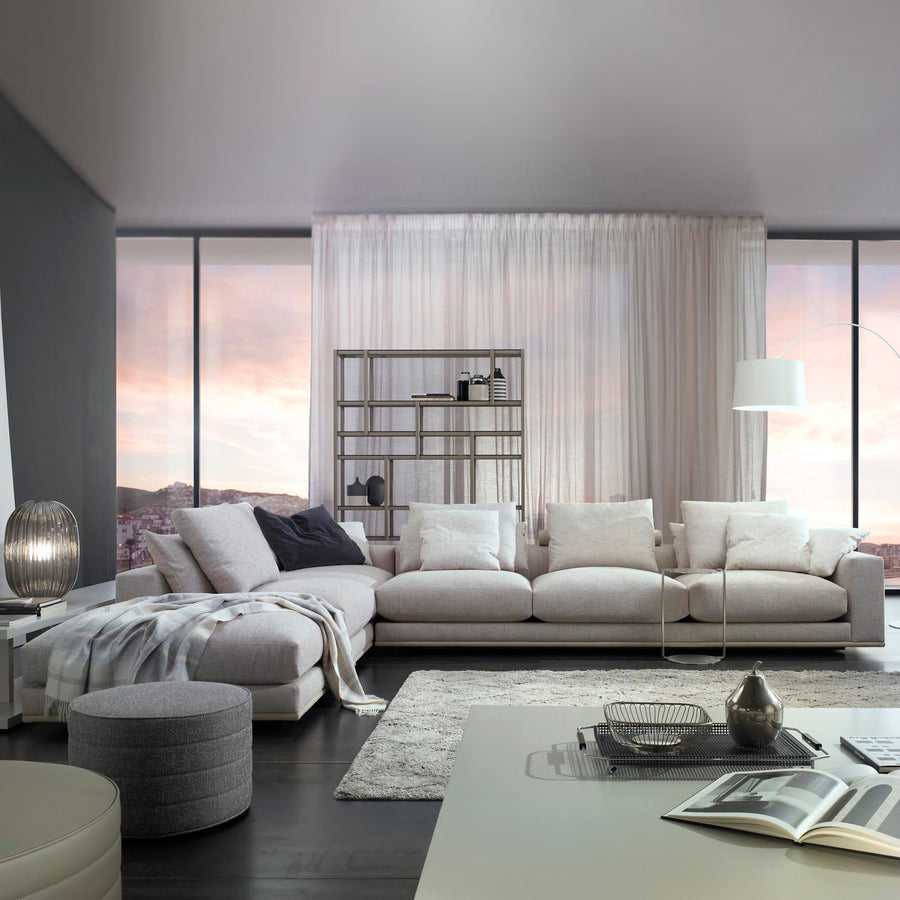 Casadesus Mauro, Modern Sectional Sofa, ambient 2 - made in Spain - Spencer Interiors