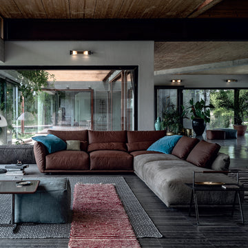 Cierre Clift Sofa Sectional in Leather - made in Italy - Spencer Interiors