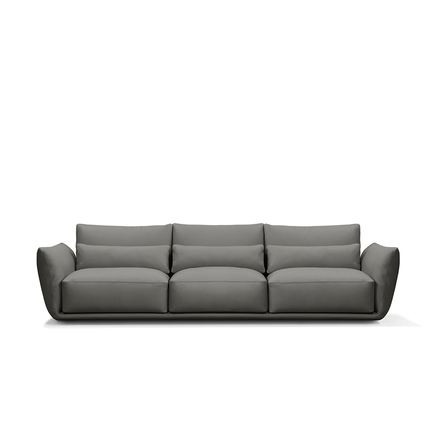 Cierre Clift Sofa in Grey Leather - made in Italy