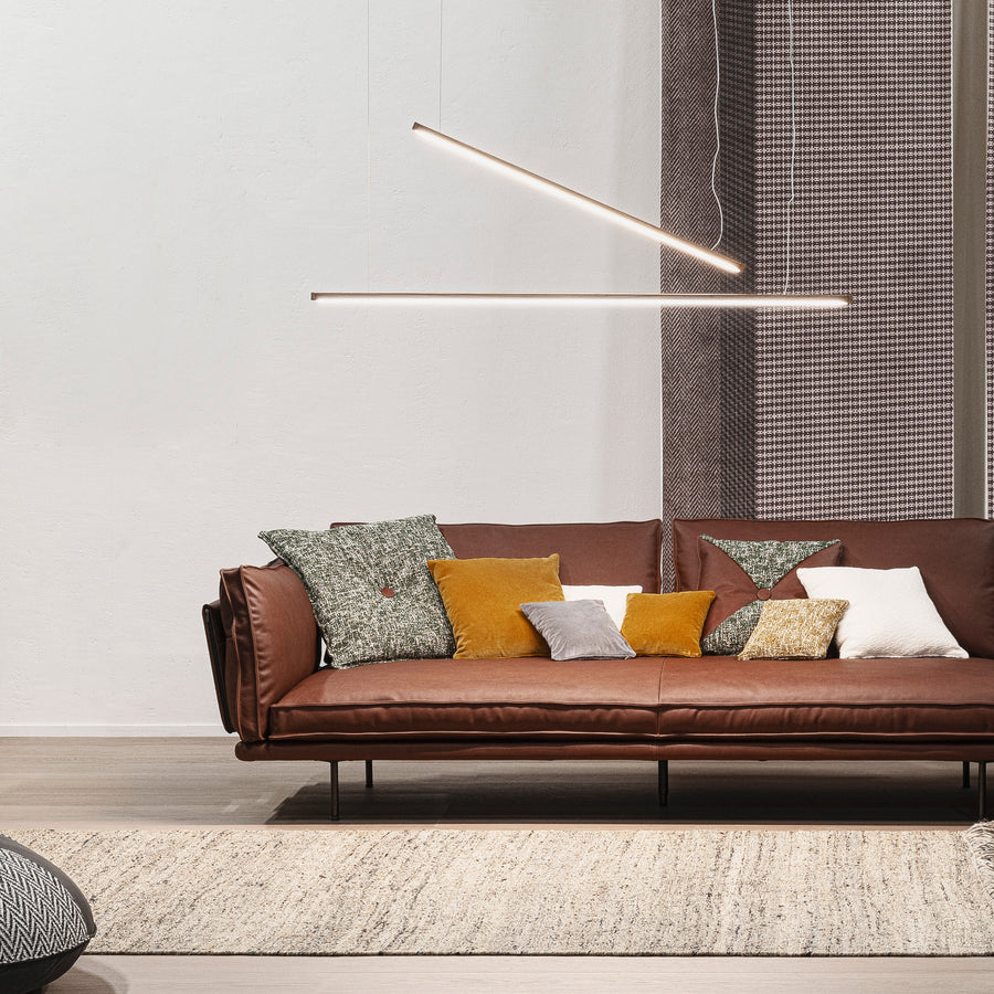 Cierre Divine Sofa in Leather, ambient - made in Italy - Spencer Interiors