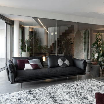 Cierre Divine Sofa in Leather - made in Italy - Spencer Interiors