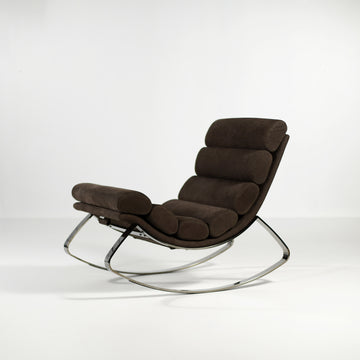 Cierre Monet Rocking Chair in Leather - made in Italy, © Spencer Interiors Inc.