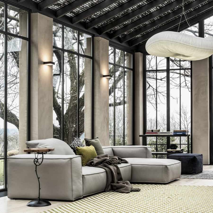 Cierre Season Sectional in Leather - made in Italy - Spencer Interiors