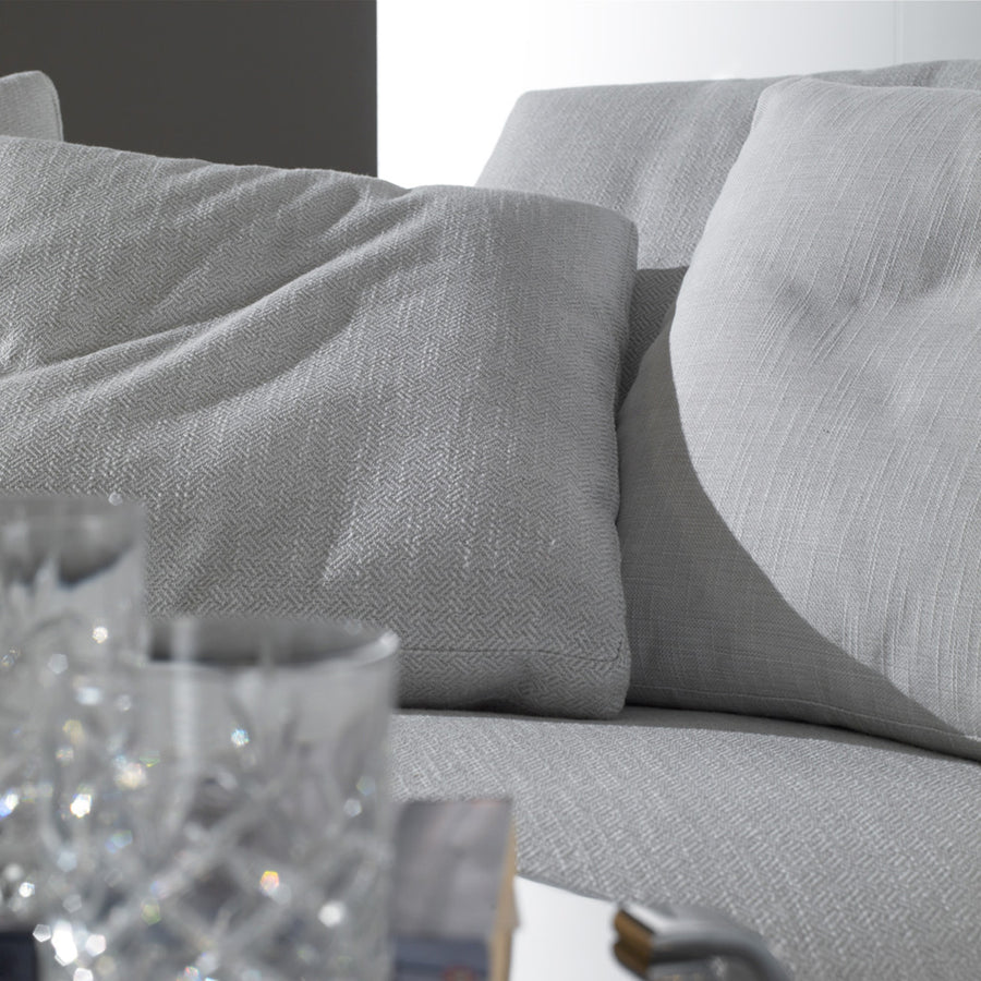 Casadesus Alex Sofa - Classic Modern, Made in Spain, cushion detail  | Spencer Interiors