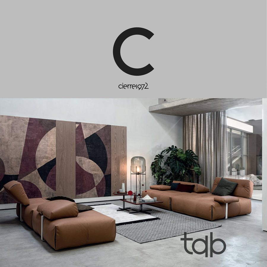 Cierre Italy, Tab Modular Seating, Square Modules 150 cm ambient, Spencer Interiors