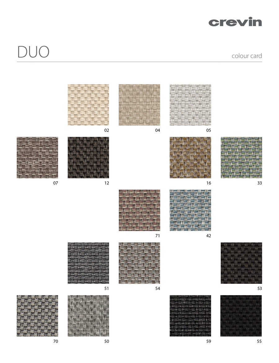 Crevin Fabric Duo Color Card