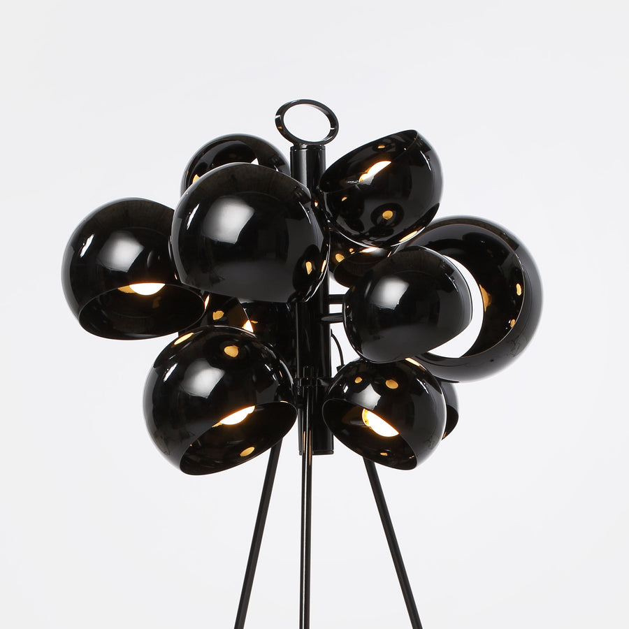David Weeks Studio, Kopra Standing Lamp, Black Gloss detail