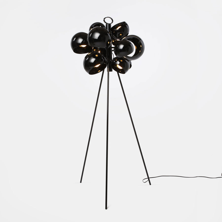 David Weeks Studio, Kopra Standing Lamp, Black Gloss