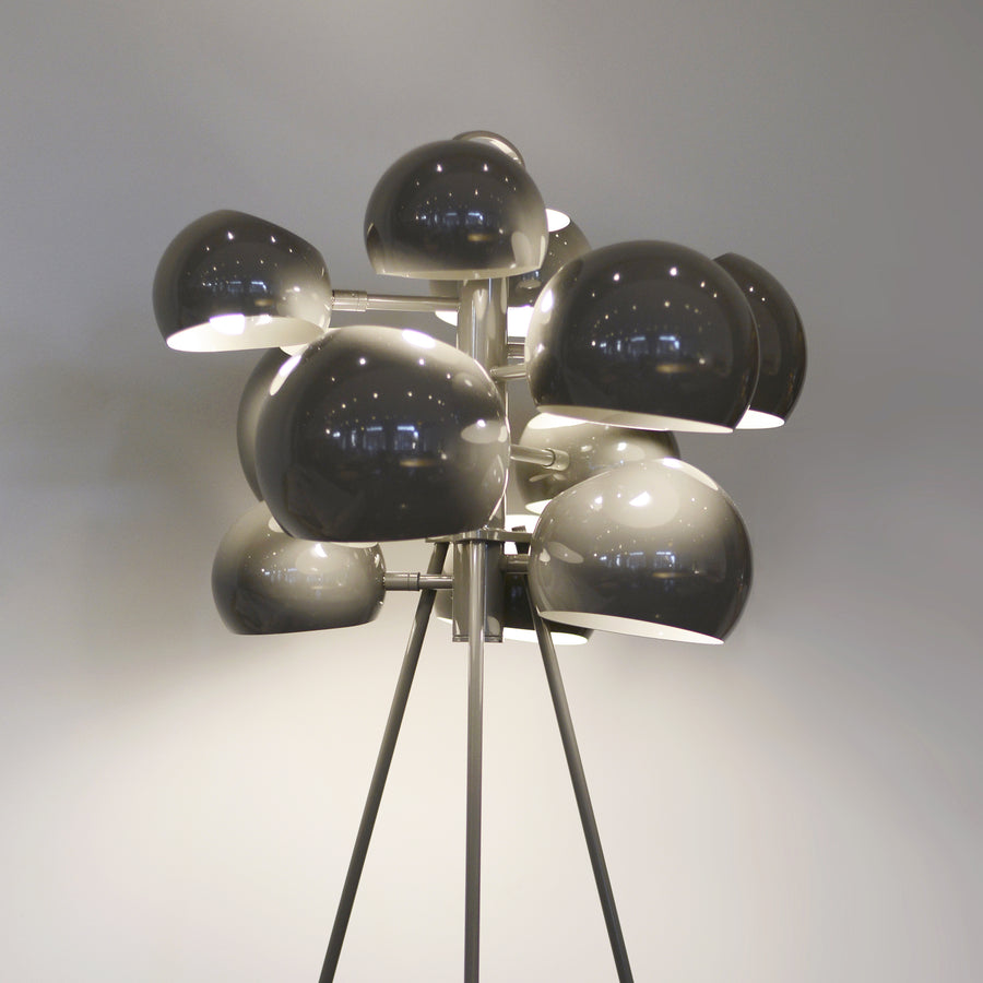 David Weeks Studio, Kopra Standing Lamp, Grey Gloss detail