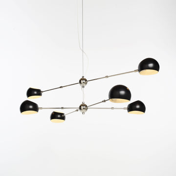 David Weeks Oval Boi Chandelier, Satin Black