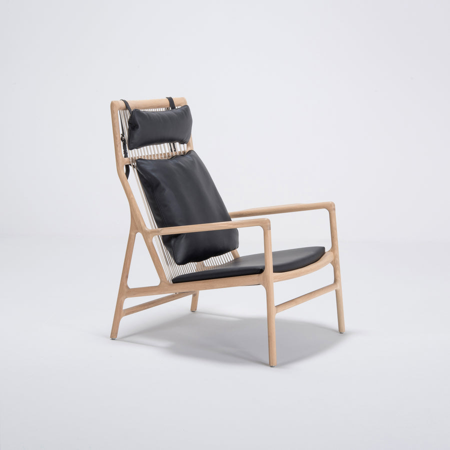 Gazzda Dedo Lounge Chair in solid Oak 2