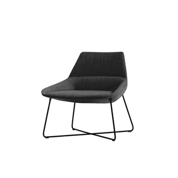 Dunas XL,  low back rod base armchair, All Black