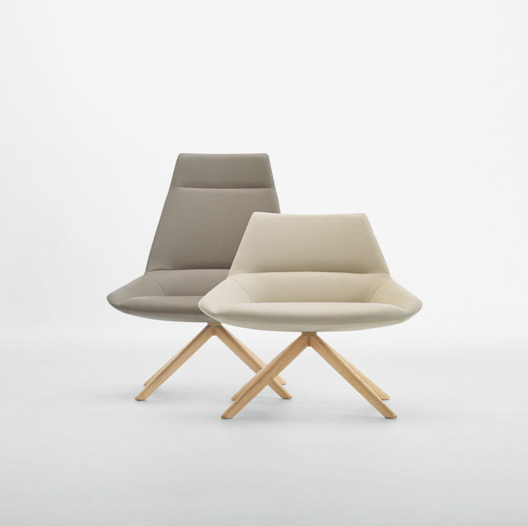 Dunas xl wood, low back armchair