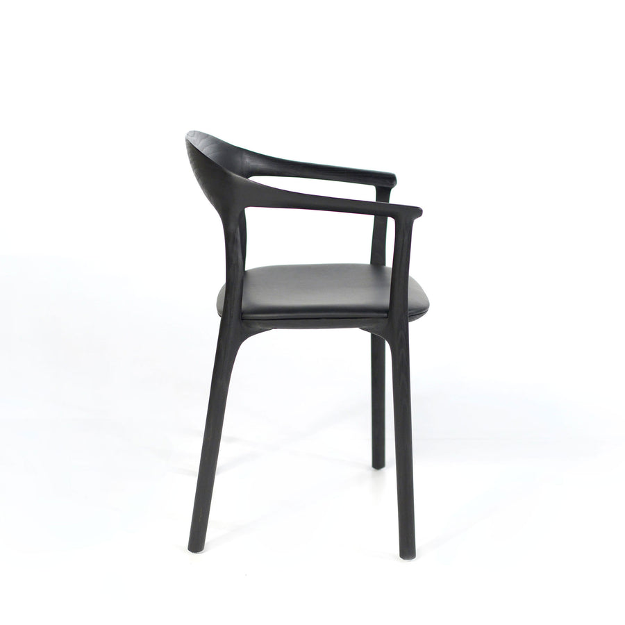 MS&Wood Elle Armchair in Solid Black Ash, profile | © Spencer Interiors