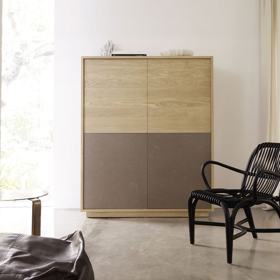 Basic Tall Cabinet with 2 Kerlite® Doors