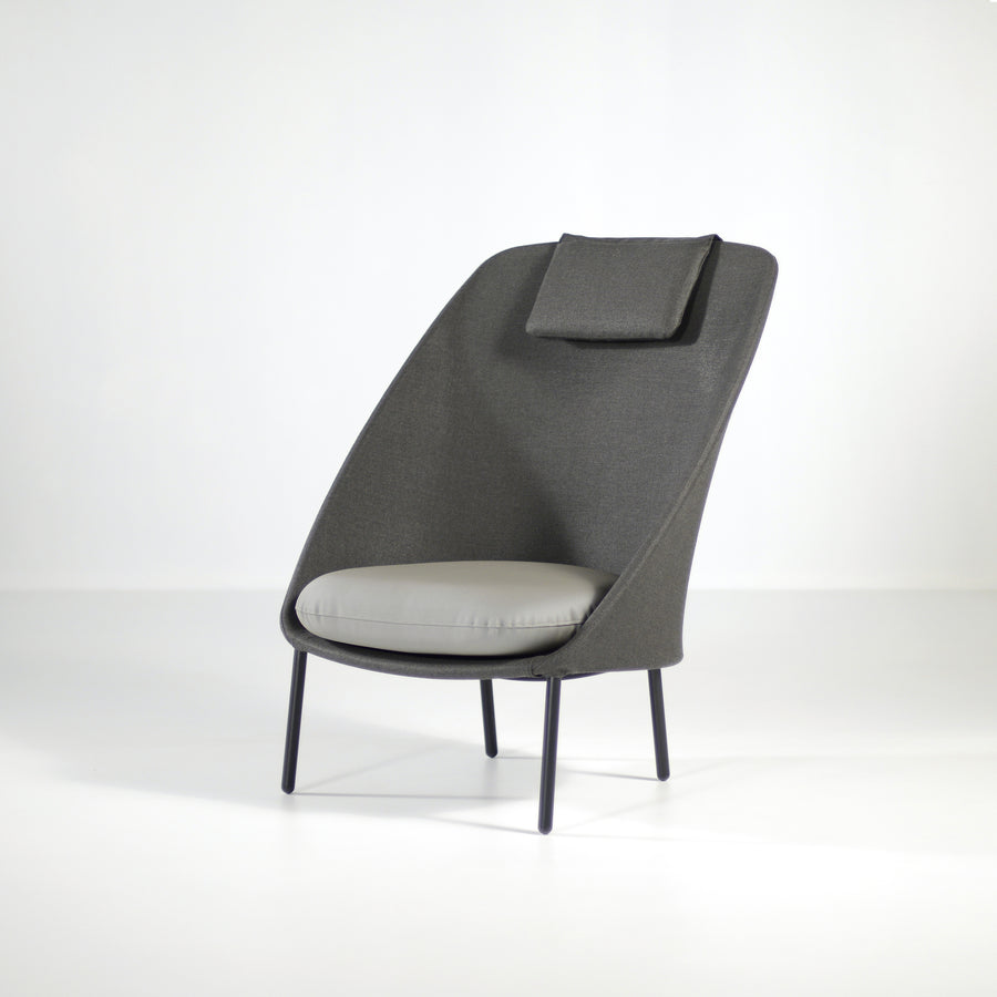Expormim Twins High Armchair, front turned, © Spencer Interiors