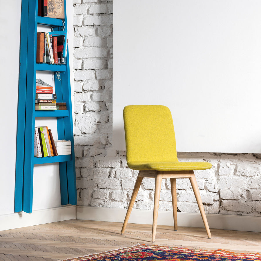 Gazzda Ena Dining Chair in whitened Oak and Felted Wool 7