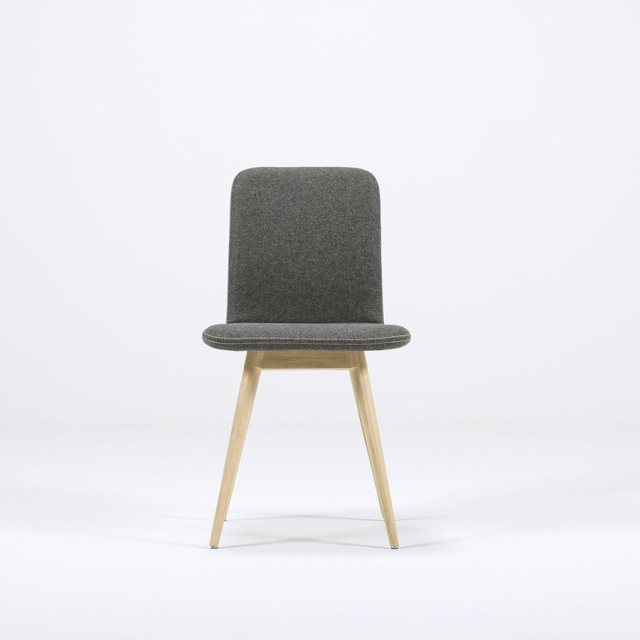 Gazzda Ena Dining Chair in whitened Oak and Felted Wool 4