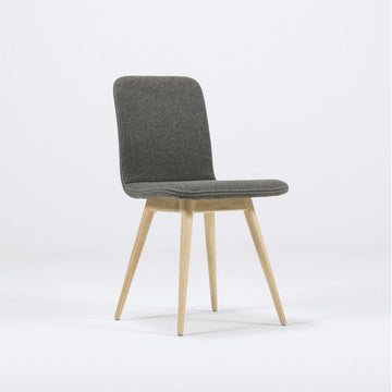 Gazzda Ena Dining Chair in whitened Oak and Felted Wool