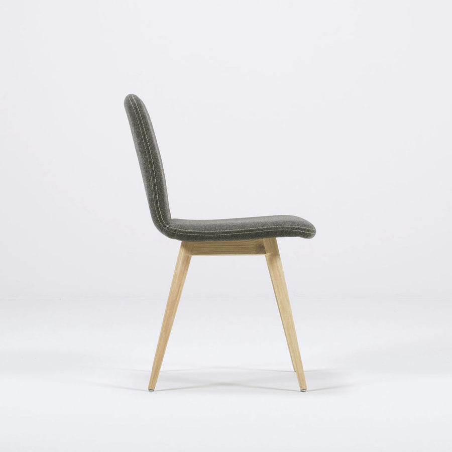 Gazzda Ena Dining Chair in whitened Oak and Felted Wool 2
