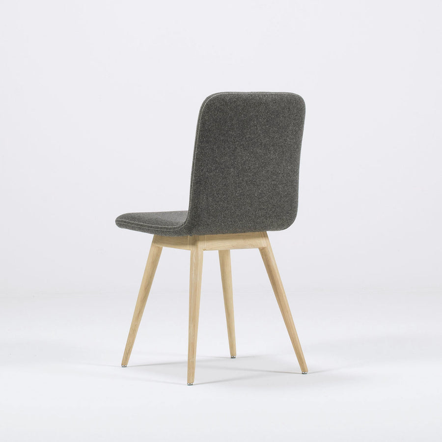 Gazzda Ena Dining Chair in whitened Oak and Felted Wool 3